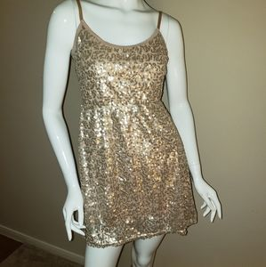 Cherry Krave Beautiful gold party dress